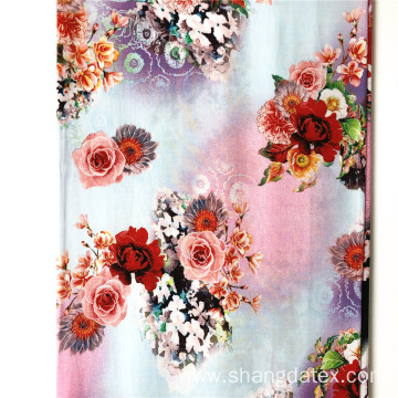 45S Rayon Semi Digital Printed Floral Design
